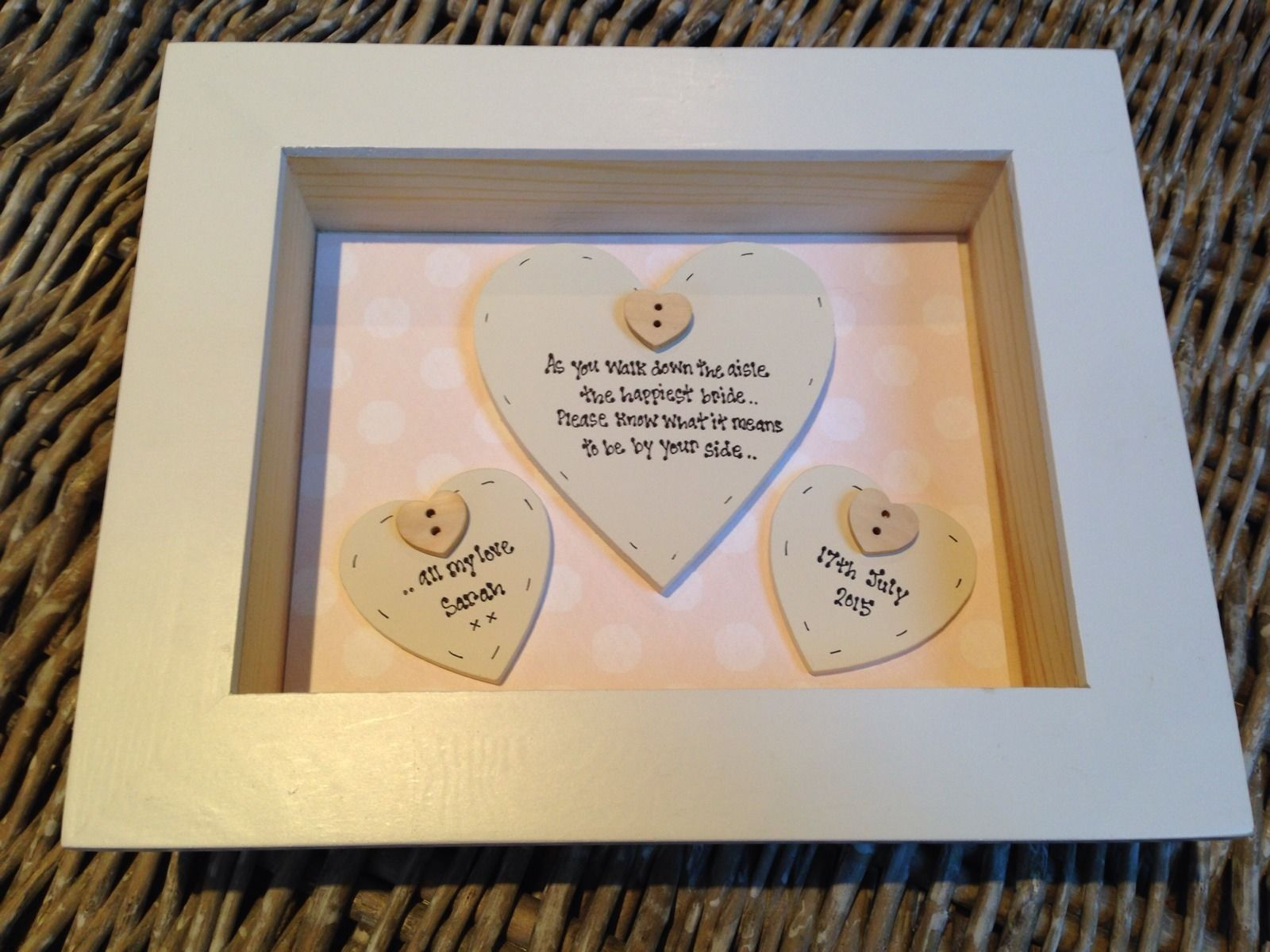 Wedding Gift Amount Sister : Shabby Personalised Chic Bix Frame Gift For Bride From Bridesmaid ...
