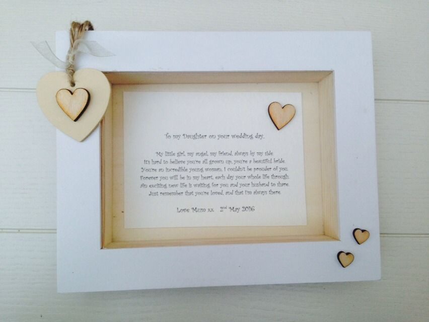 Shabby Personalised Chic Box Frame Bride Daughter On Her