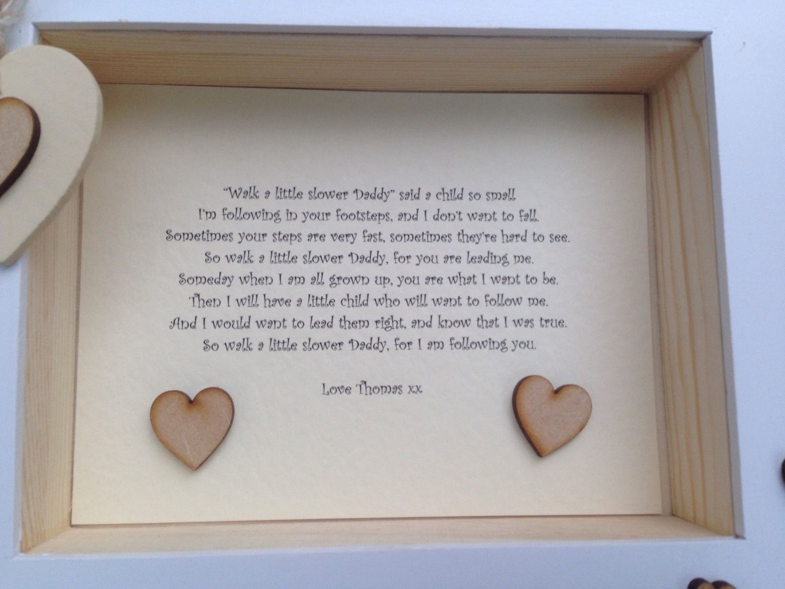 Shabby Personalised Chic Box Frame Daddy Dad Special Gift