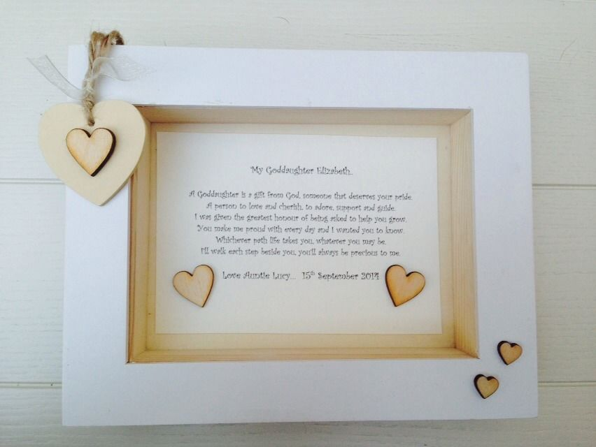 Shabby Personalised Chic Box Frame Gift Christening God Daughter ...