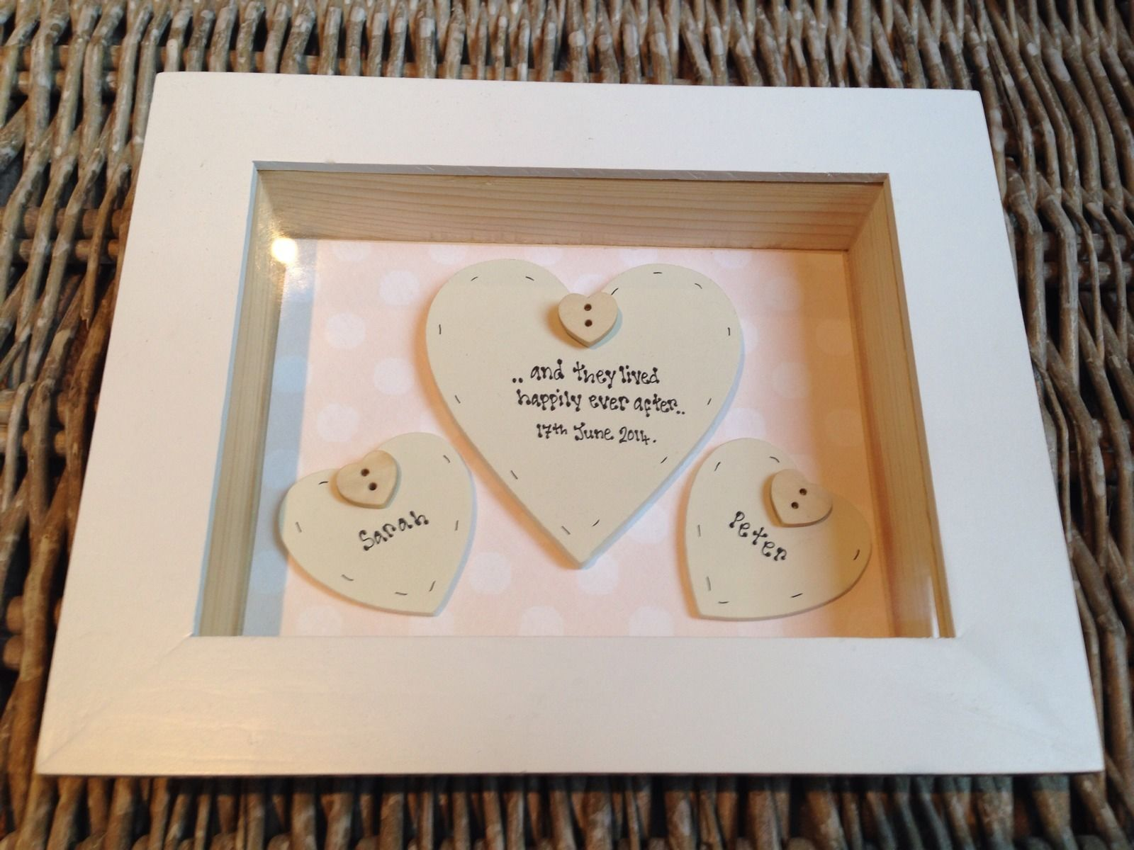 Gift for bride and groom on wedding day