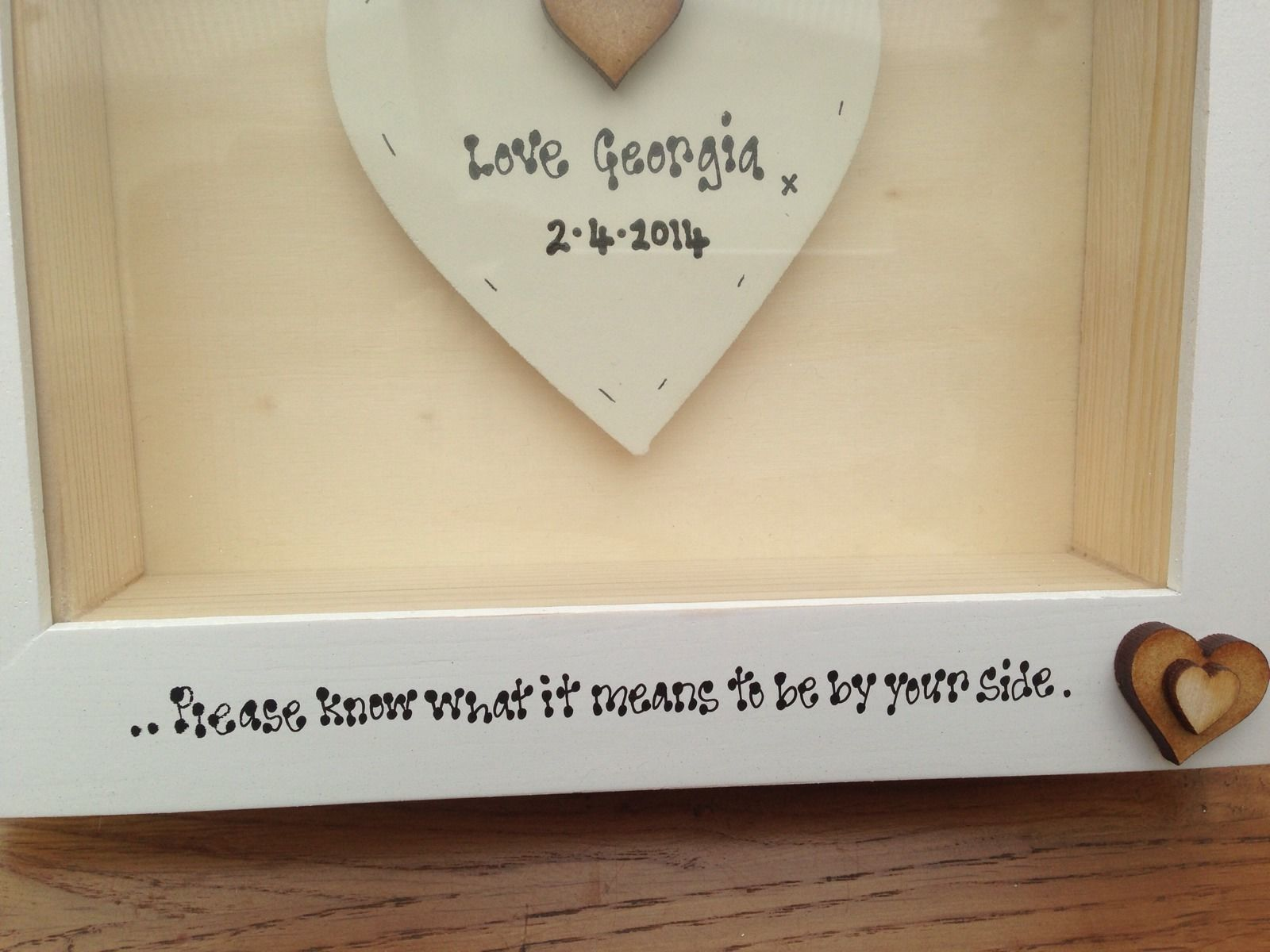Wedding Gift Frame: Shabby Personalised Chic Box Frame Gift For Bride On Her