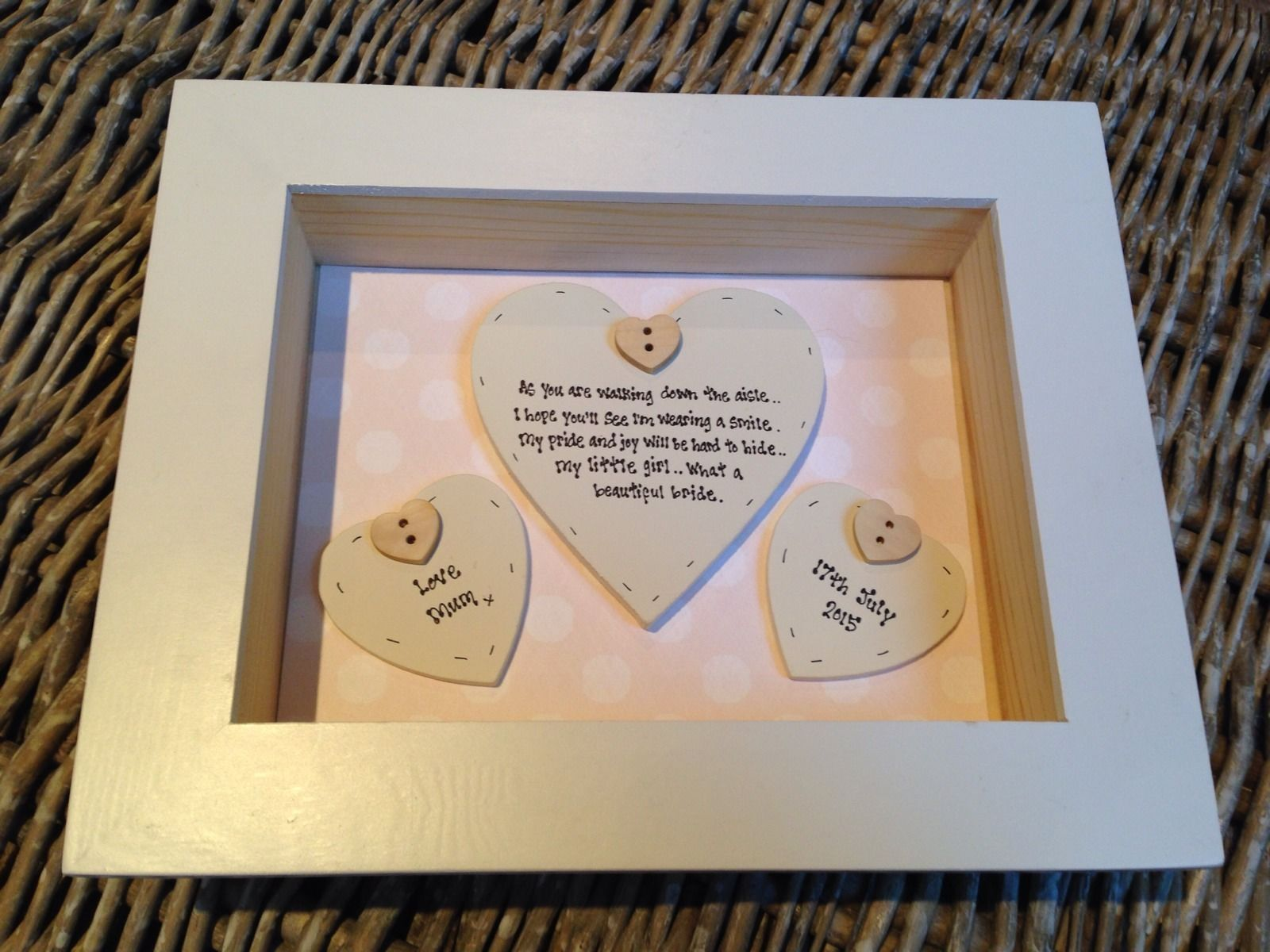 Shabby Personalised Chic Box Frame Gift For Daughter On Her Wedding ...