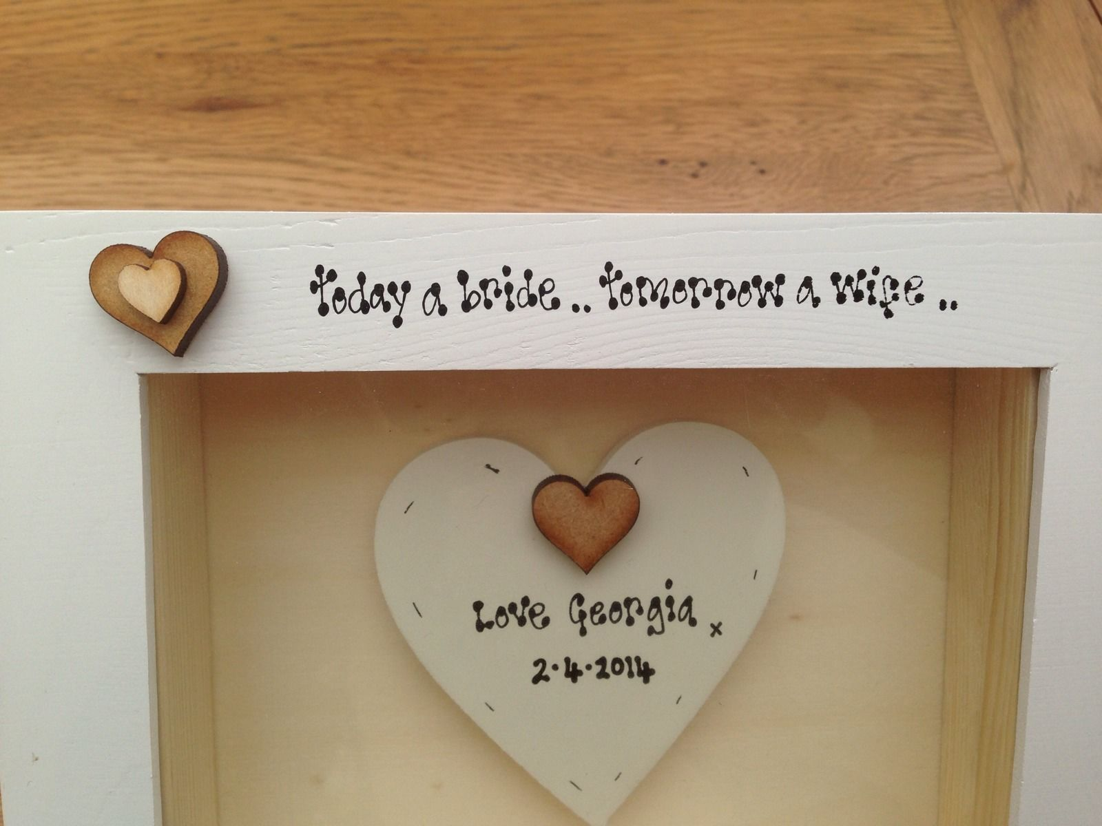 Personalised Chic Box Frame Gift Mother Of The Bride Mum Wedding ...