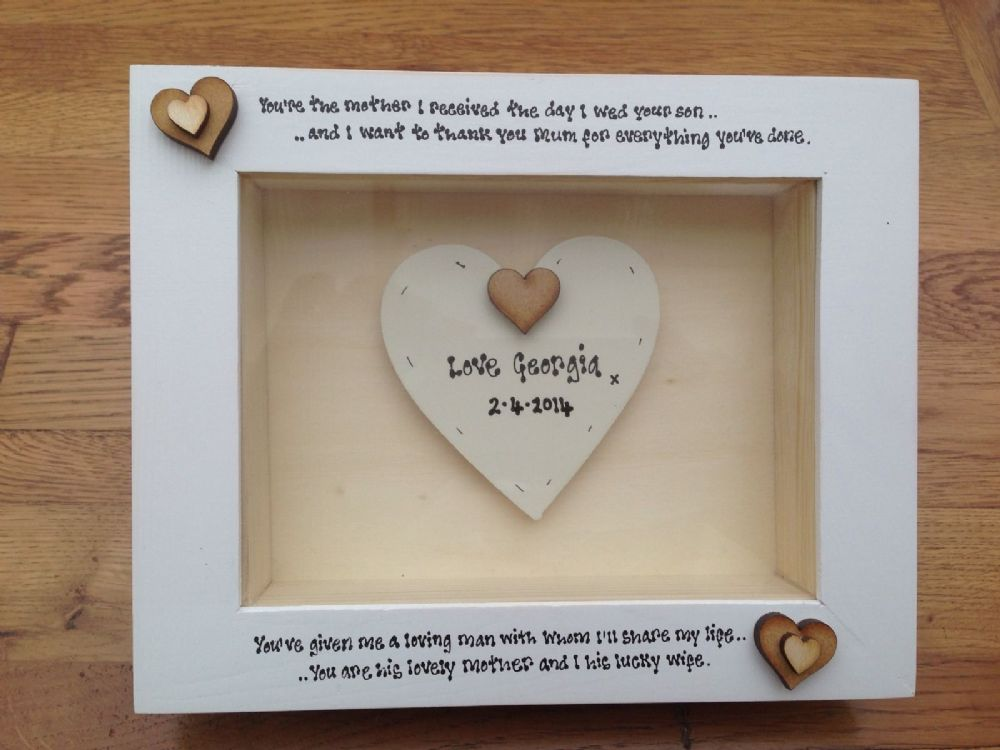 Wedding Gift Amount Sister : ... Chic Box Frame Gift Mother Of The Groom Mum Wedding Present