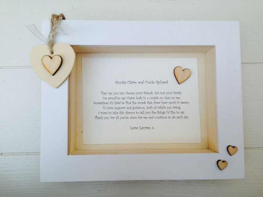 Shabby Personalised Chic Box Frame Special Auntie Aunty Aunt And ...