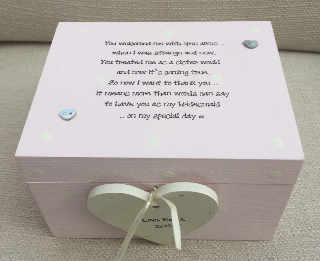 Wedding Gifts For Sister In Law: Shabby Personalised Chic Bridesmaid Sister To Be Sister In