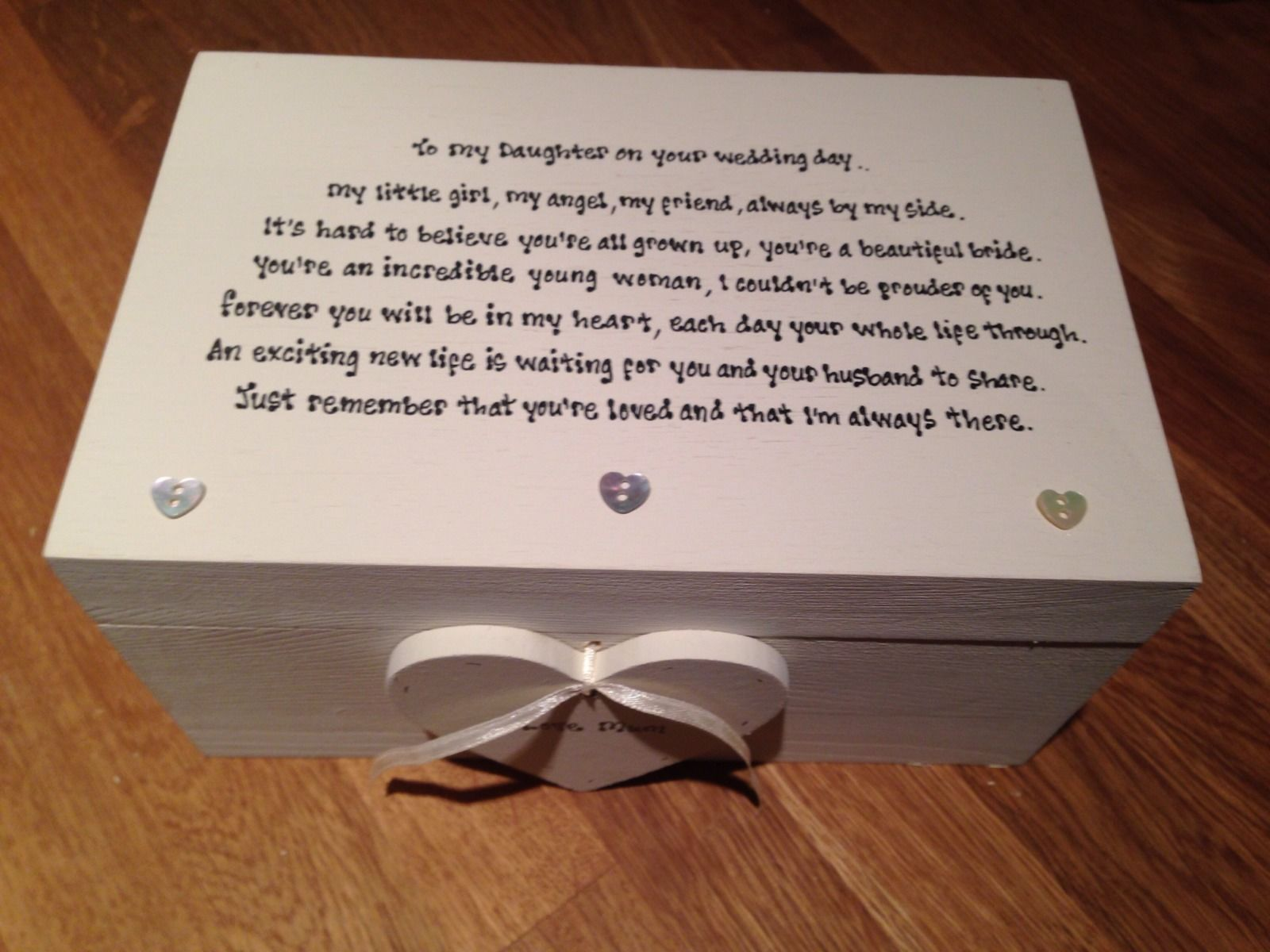 Wedding Gift For Our Daughter : ... Chic Daughter On Her Wedding Day EXTRA LARGE Gift Memory Box