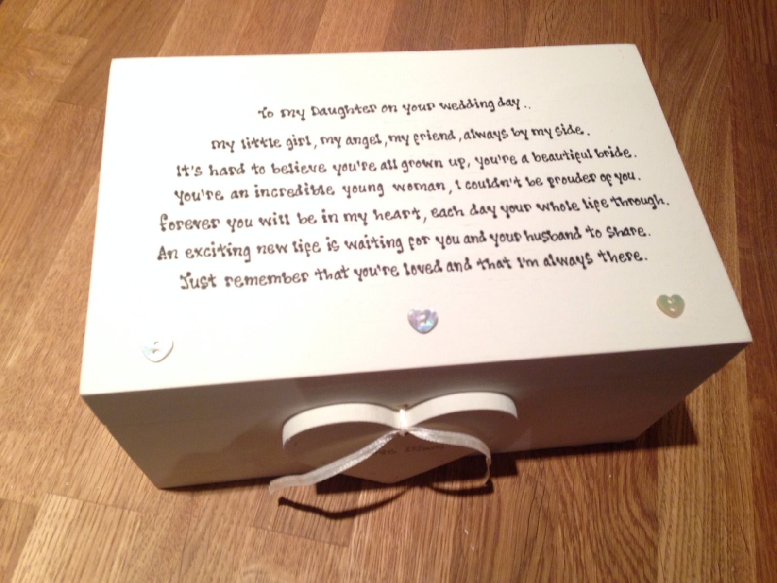 Wedding Gifts For Your Daughter : ... Chic Daughter On Her Wedding Day EXTRA LARGE Gift Memory Box