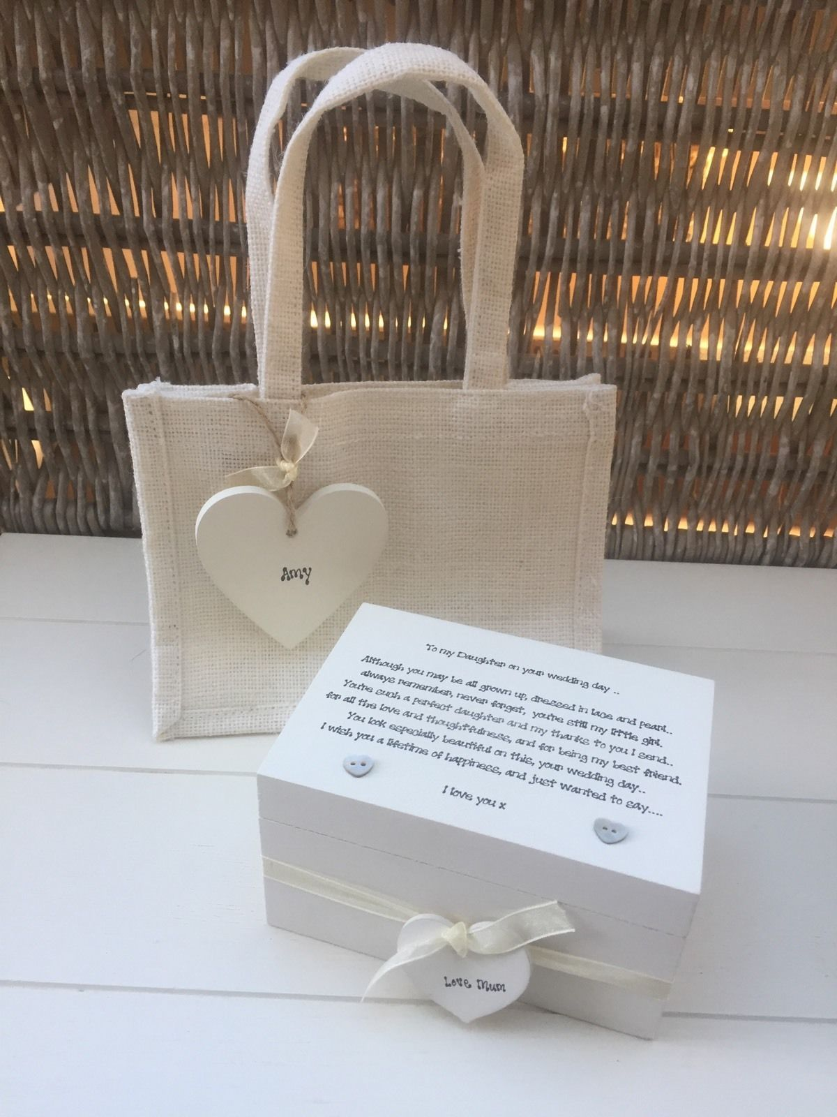 Shabby Personalised Chic Daughter On Her Wedding Day Gift Set Present