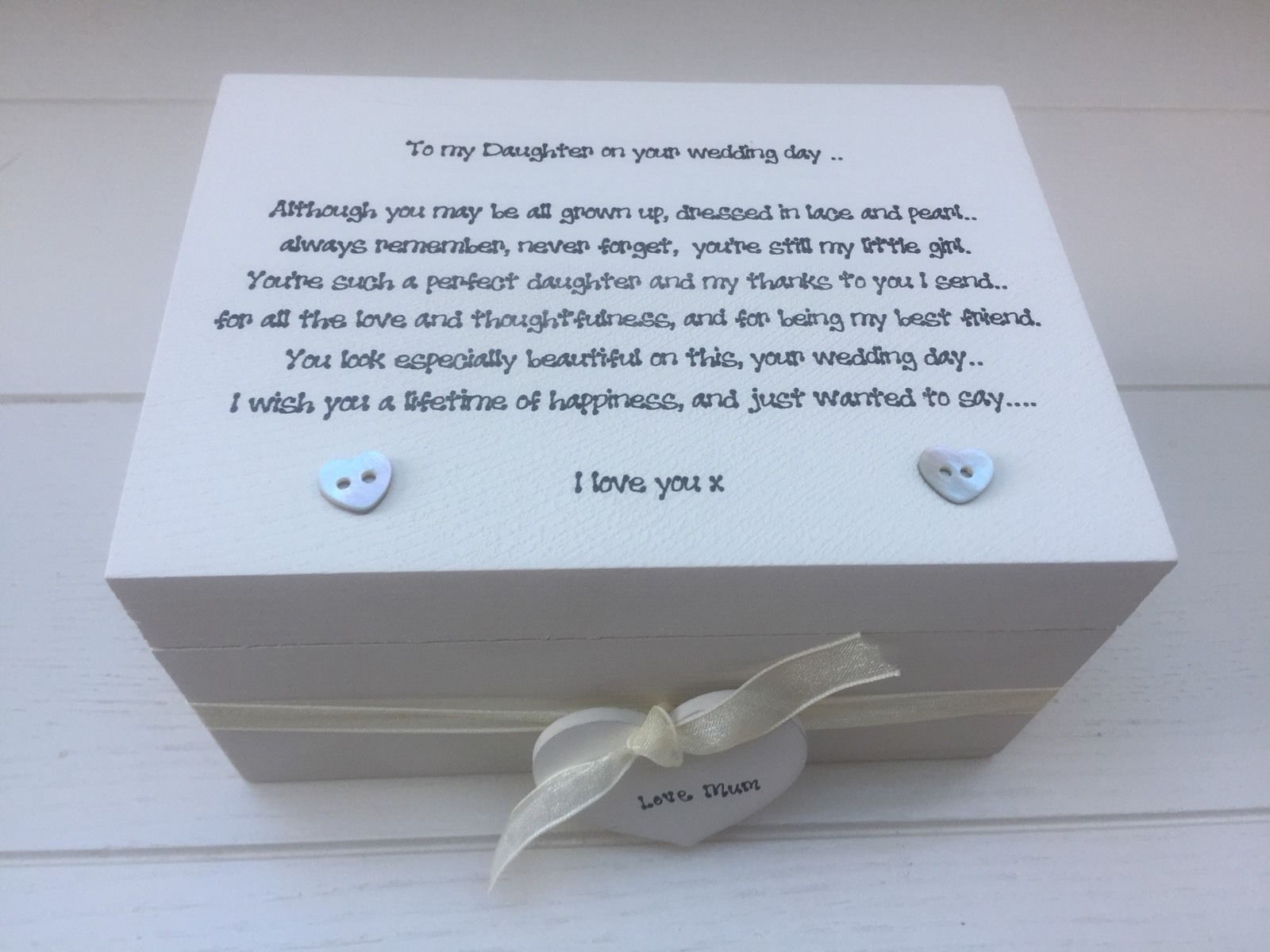 Shabby Personalised Chic Daughter On Her Wedding Day Gift Wedding ...