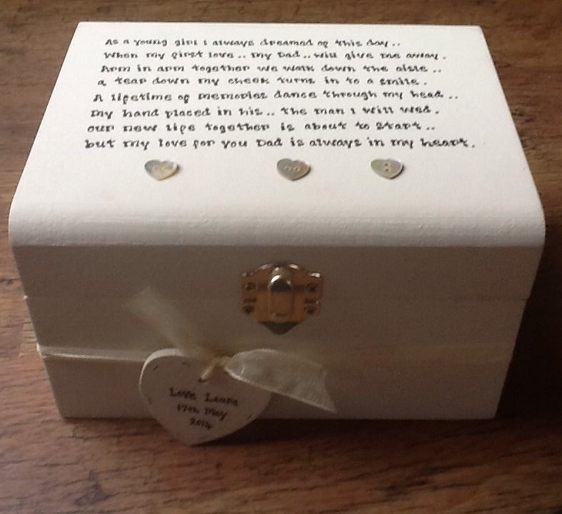 ... Personalised chic Father Of The Bride Wedding Thank You Gift Box gift