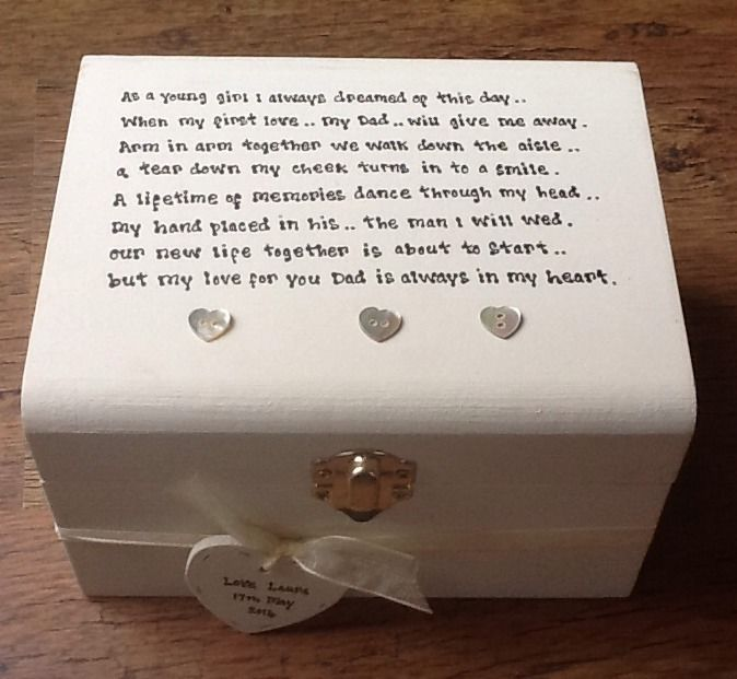 Wedding Thank You Gift Box : ... Personalised chic Father Of The Bride Wedding Thank You Gift Box gift