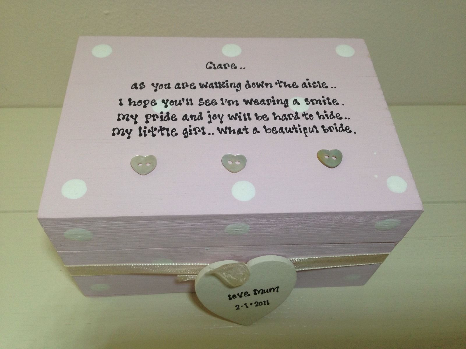 Shabby Personalised Chic Gift Box For Daughter Who Is The Bride On Wedding Day