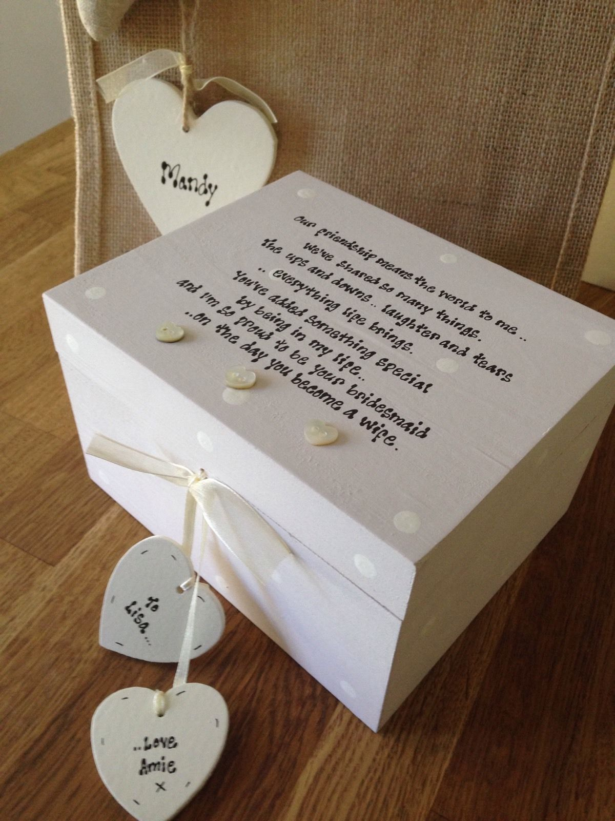 Personalised Wedding Gift Boxes Uk : ... Personalised Chic Gift For Bride From Bridesmaid Wedding LARGE Box Set