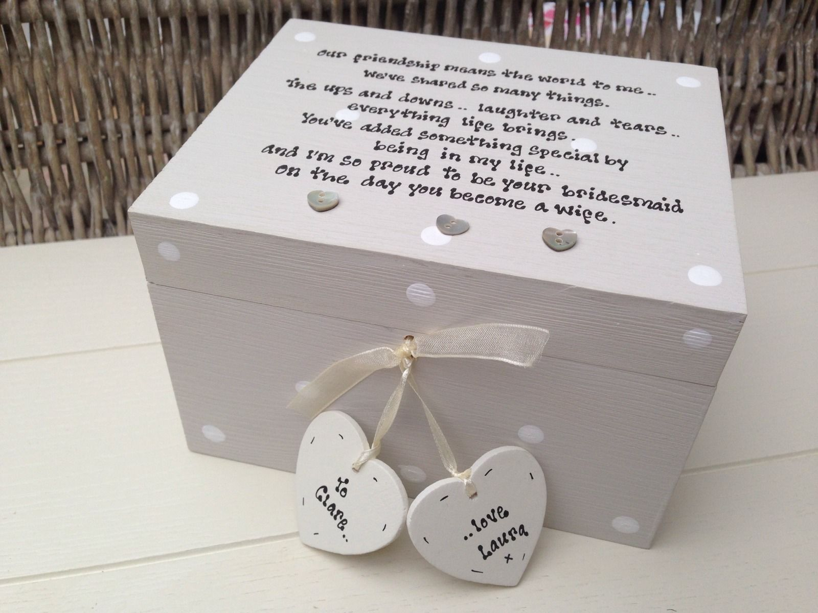Chic Gift For Bride From Bridesmaid Wedding Trinket Box