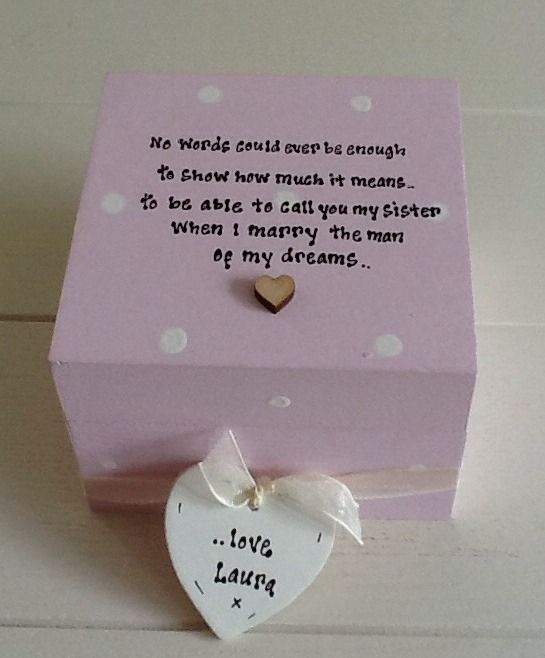 ... Chic Gift For Sister In Law From Bride.. Wedding Trinket Box