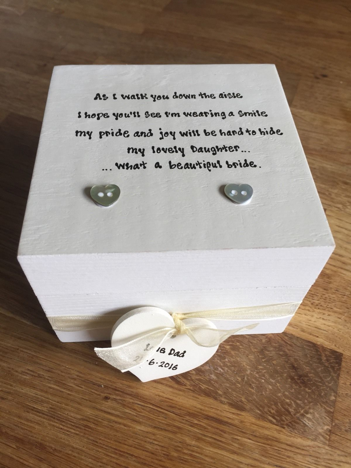 Wedding Gift Amount Sister : Shabby Personalised Chic Gift Set Daughter Wedding Father Of The Bride ...