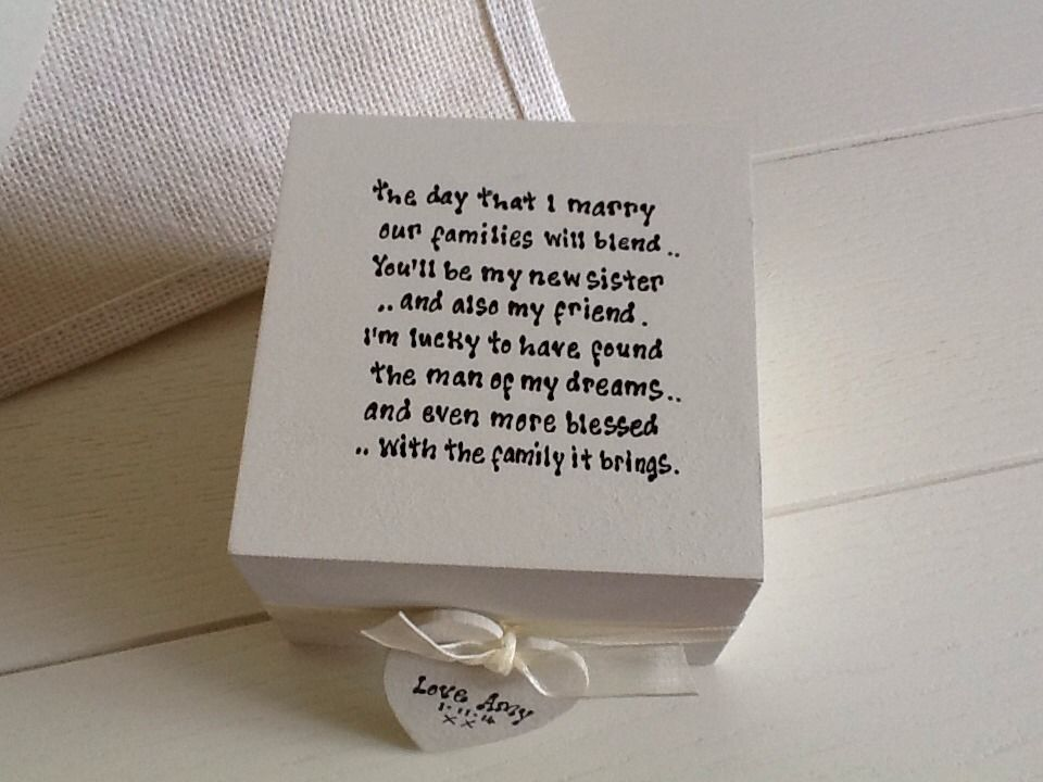Wedding Presents For Sister Uk : Shabby Personalised Chic Gift Set Sister In Law Wedding Day Bridesmaid ...