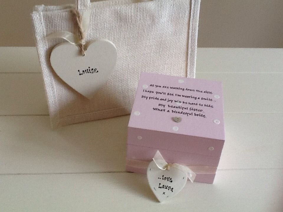 Wedding Gift Ideas For Sister Uk : ... Chic Gift Set Sister On Wedding Day.. Present Gift Any Names