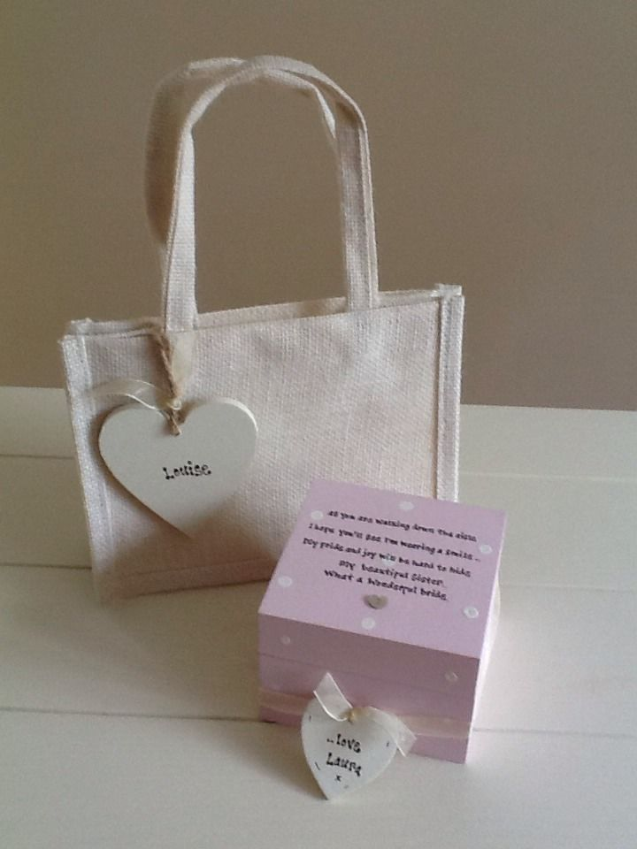 Wedding Gifts For Sister Uk : ... Chic Gift Set Sister On Wedding Day.. Present Gift Any Names
