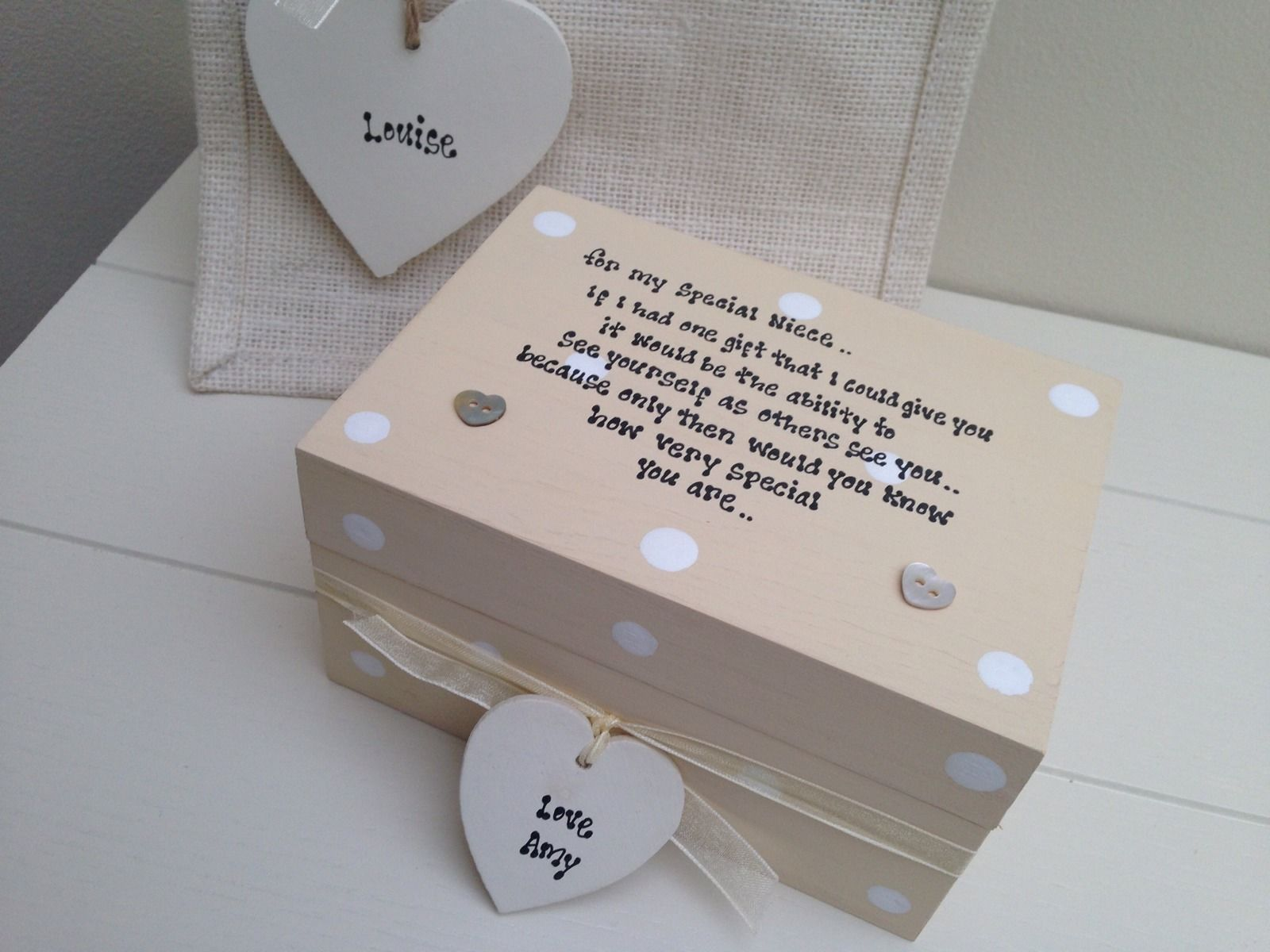 Special Wedding Gift For Niece : Shabby Personalised Chic Gift Set Special Niece.. Birthday Present Any ...