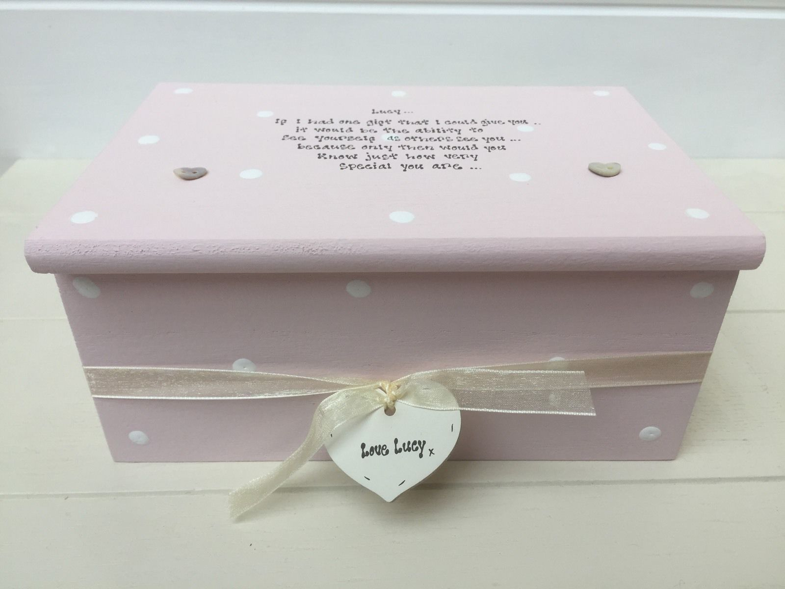Personalised Chic Jewellery Box Gift Special Best Friend Friendship