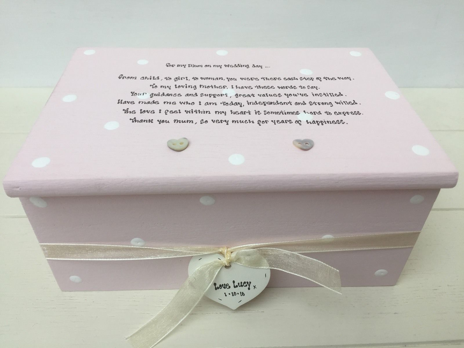 Personalised Wedding Jewellery Gifts : ... Personalised Chic Jewellery Box Mother of the Bride Wedding gift