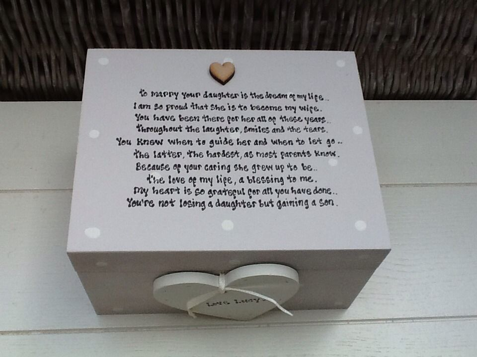 Wedding Gift To Groom From Friend : ... Chic Mother Of The Bride From Groom Wedding Gift Trinket Box