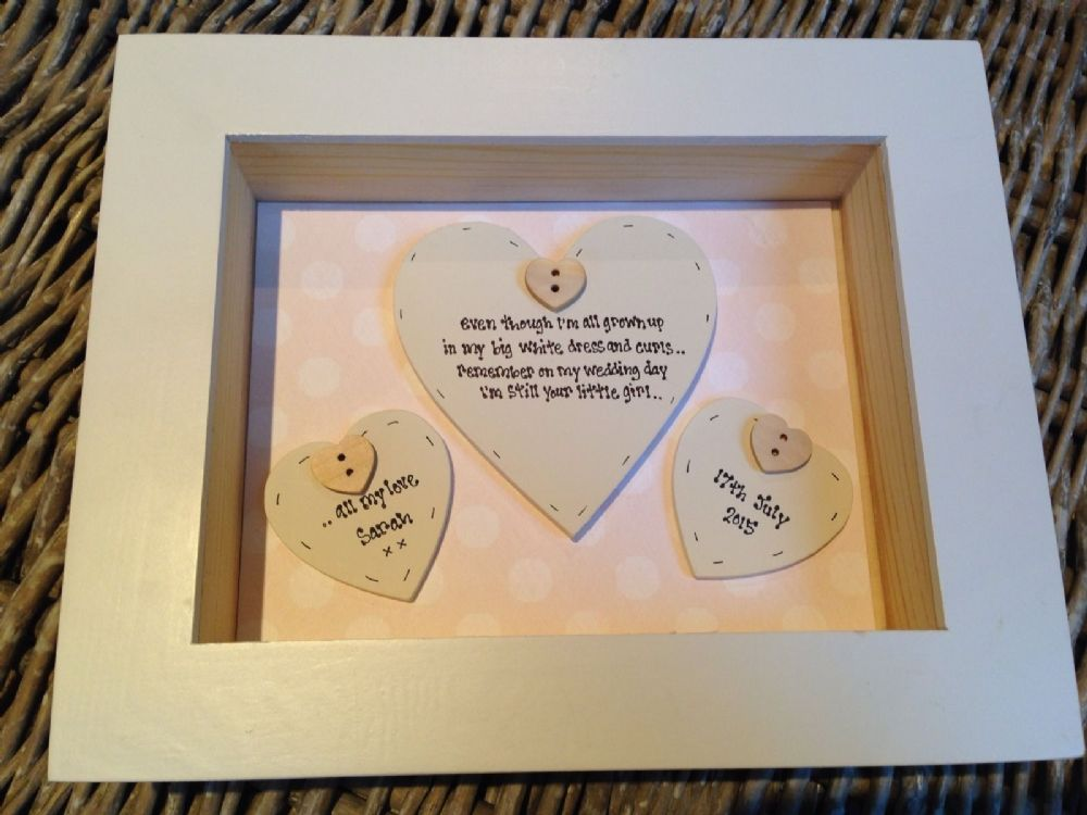 Wedding Gift Amount Sister : ... Chic Mother Of The Bride Wedding Gift Box Frame Present Mum
