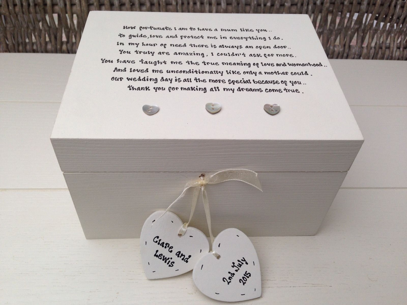 Personalised Wedding Gifts Mother Of The Bride : Shabby Personalised Chic Mother Of The Bride Wedding Gift Trinket ...
