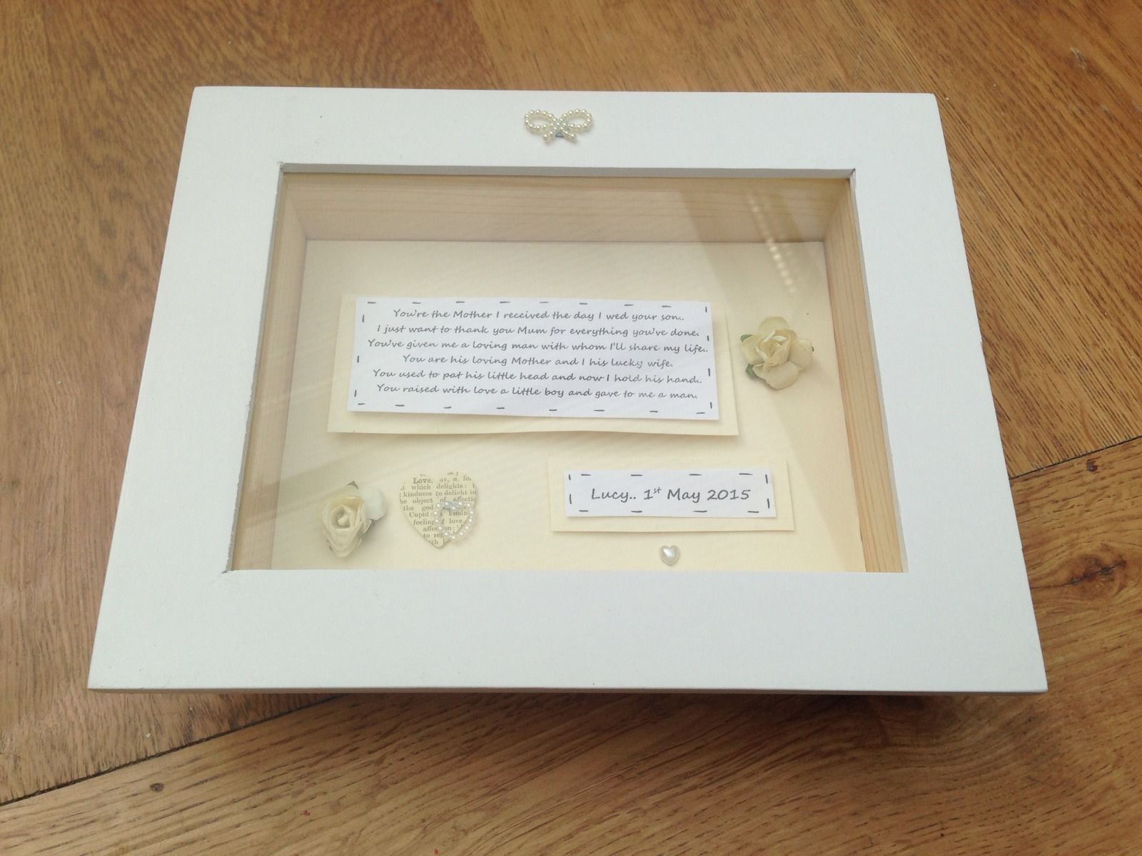 Shabby Personalised Chic Mother Of The Groom Gift Box Frame From ...