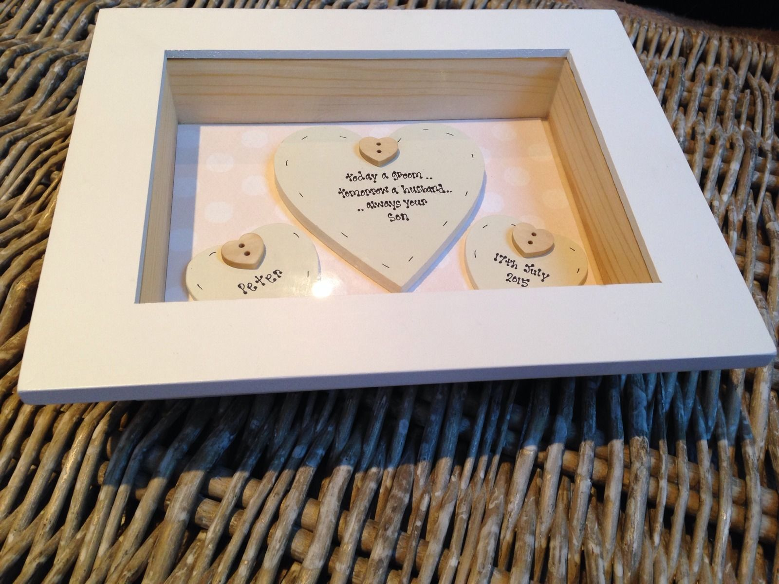 Wedding Gift Box Frame : ... Chic Mother Of The Groom Wedding Gift Box Frame Present Mum