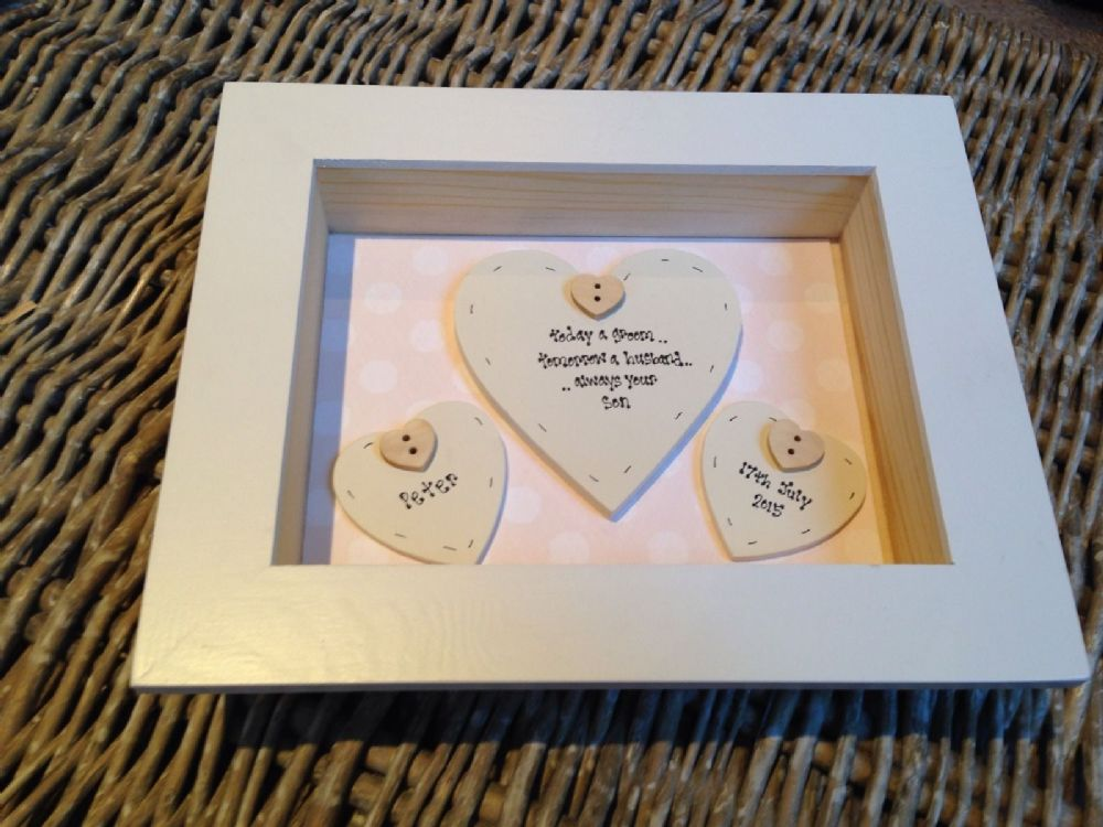 Wedding Gift Amount Sister : ... Chic Mother Of The Groom Wedding Gift Box Frame Present Mum