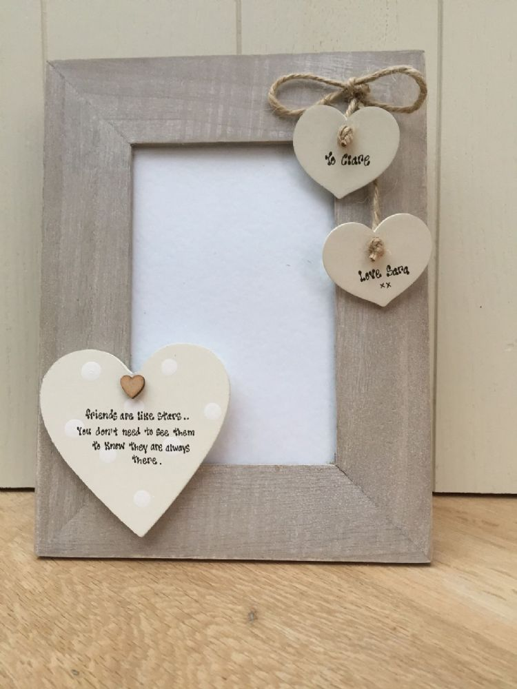 Shabby Personalised Chic Photo Frame Special Best Friend