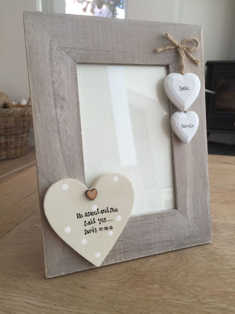 Wedding Gift Amount Sister : ... personalised Chic Photo Frame Special Engagement Wedding Gift Present