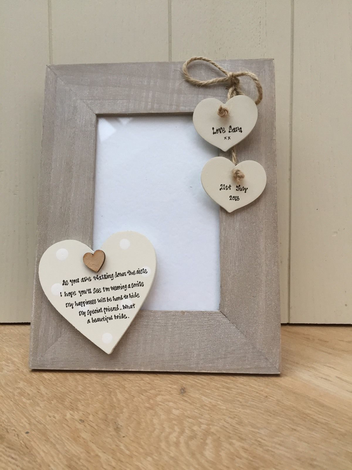 ... personalised Chic Photo Frame Wedding Day Gift For Bride From Friend