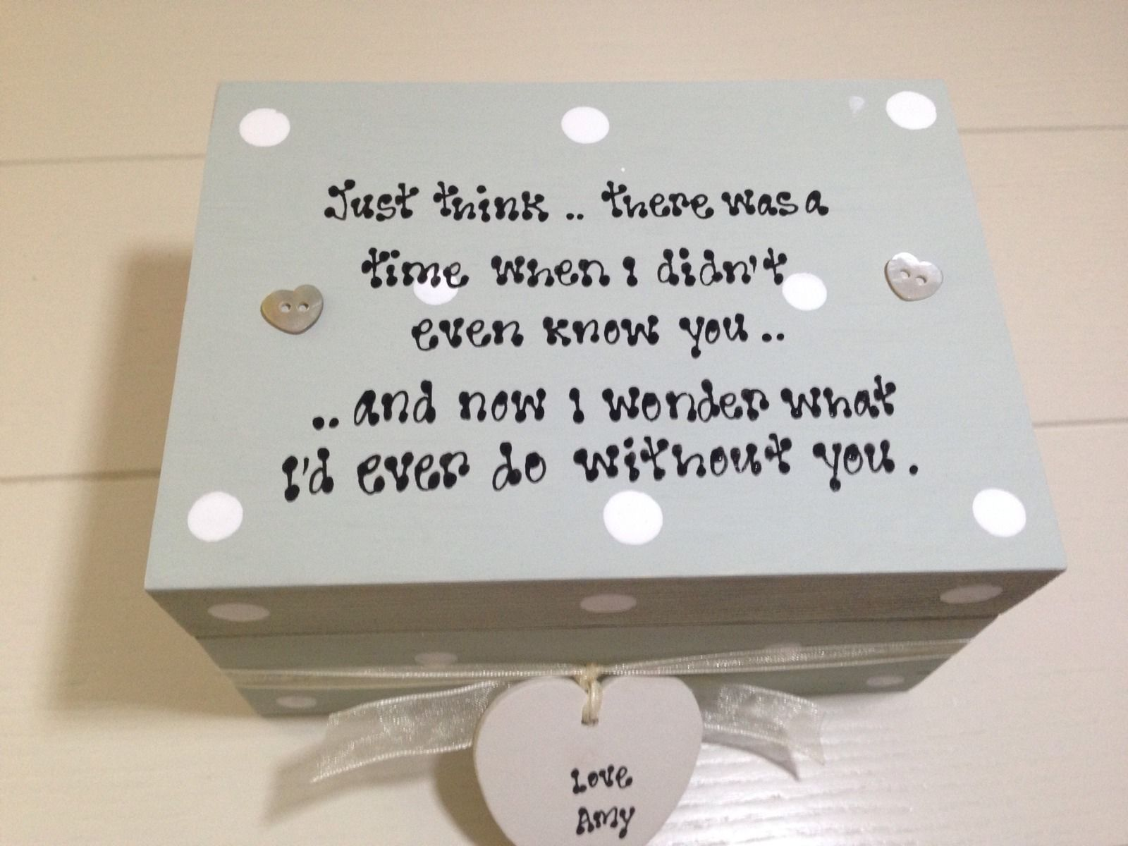 Shabby personalised chic special friend gift sentimental for Sentimental gift ideas