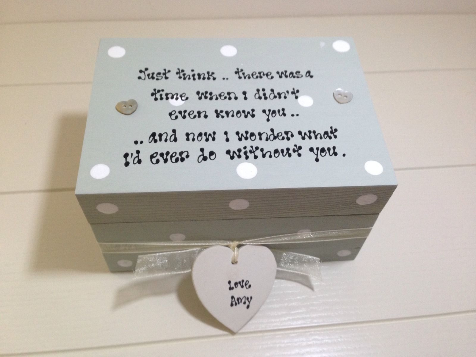 Sentimental Wedding Gift For Husband : ... Chic Special Friend Gift Sentimental Trinket Jewellery Box