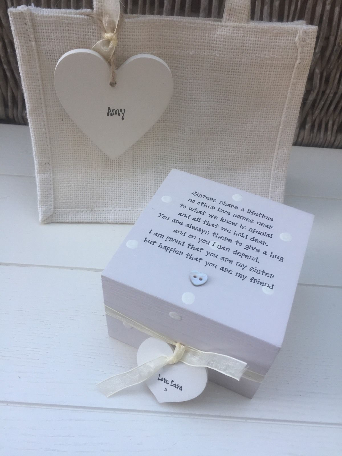 Wedding Gift Amount Sister : ... Personalised Chic Special Sister Gift Set Sentimental Present Birthday