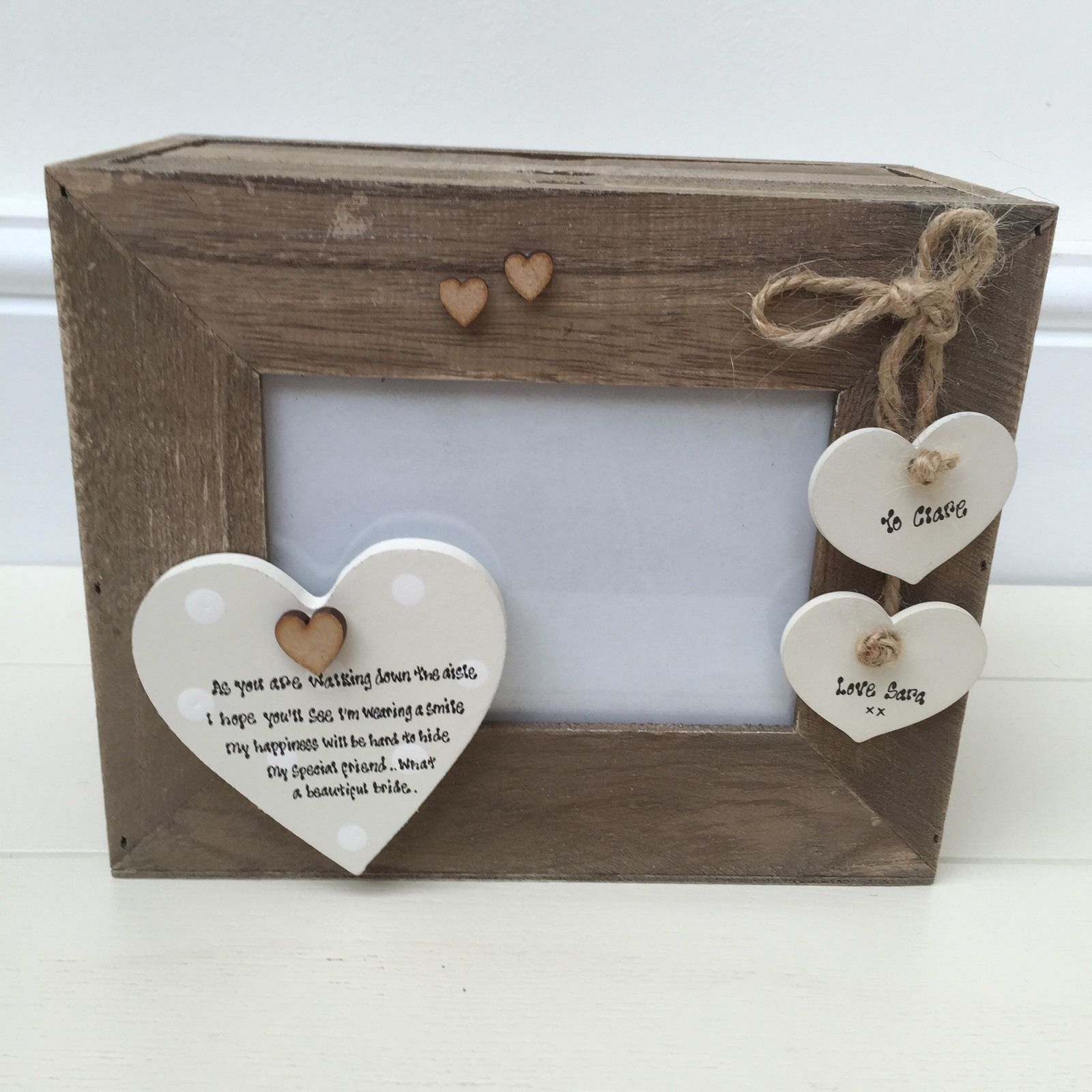 Wedding Gift Amount Sister : Shabby Personalised Chic Wedding Gift Bride From Bridesmaid Or Friend ...