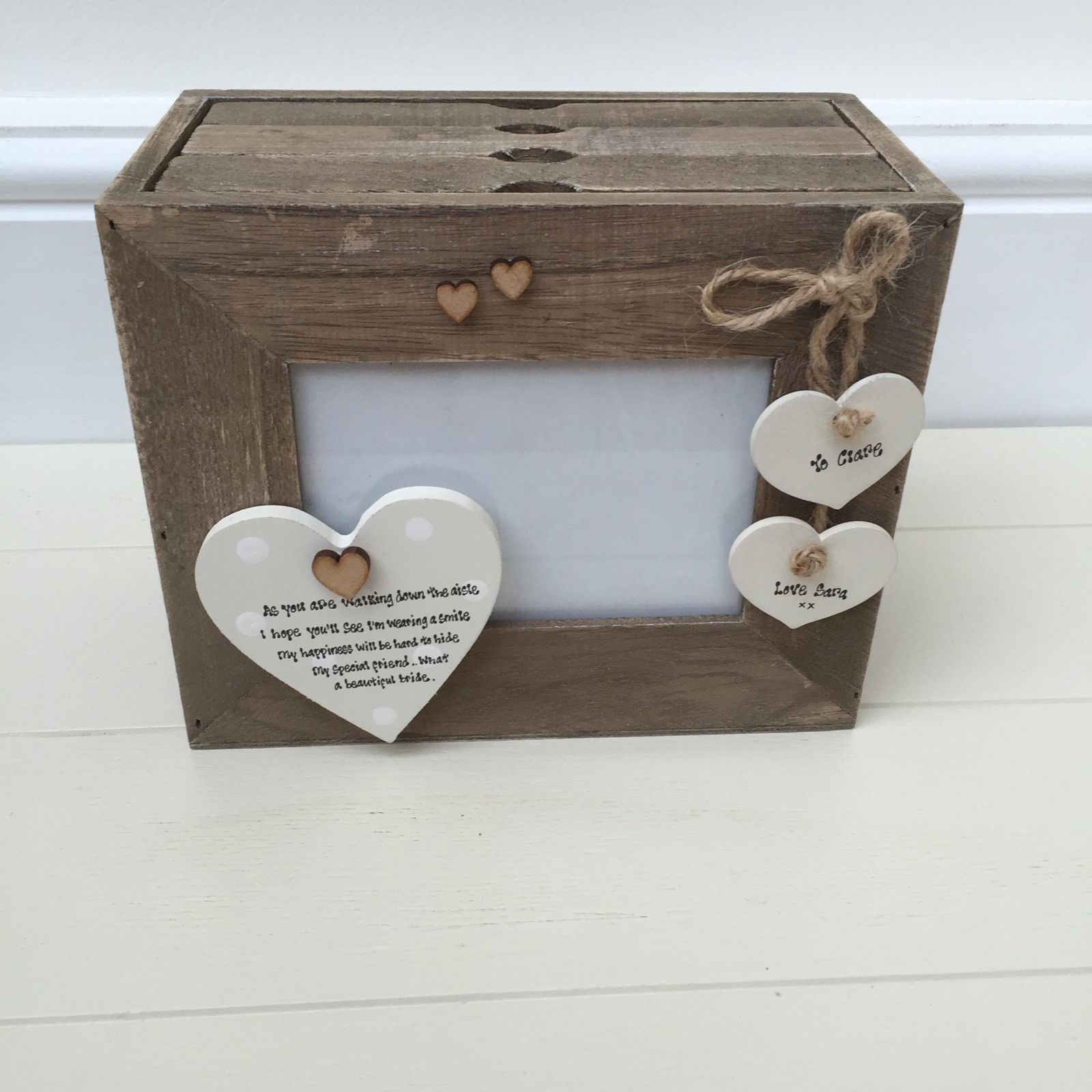 Personalised Wedding Gift Boxes Uk : ... Personalised Chic Wedding Gift Bride From Bridesmaid Or Friend Box