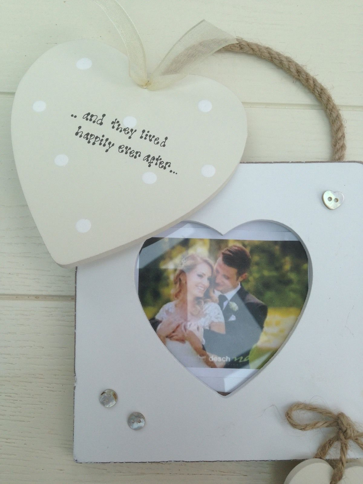 Personalised Wedding Gift For Bride And Groom : Shabby Personalised Chic Wedding Gift Present Bride And Groom Photo ...