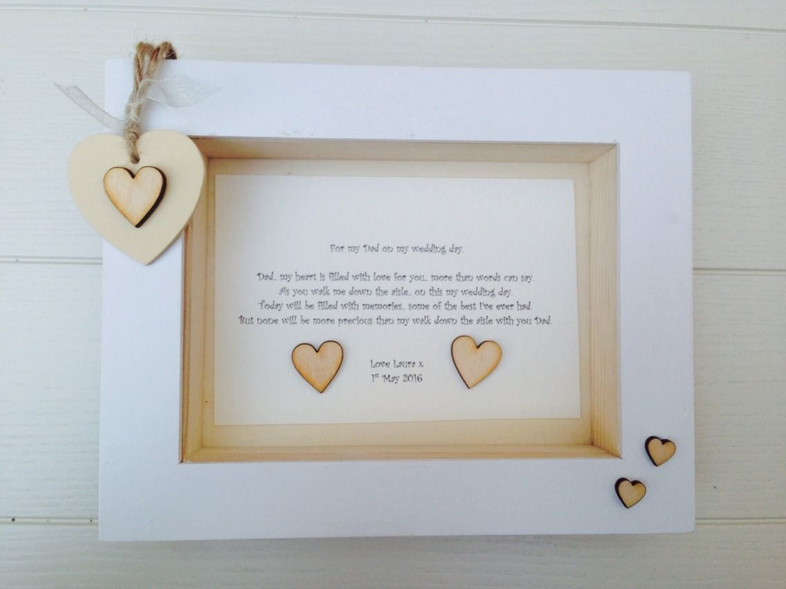 Shabby Personalised ChicGift Box Frame Present Father Of The Bride ...