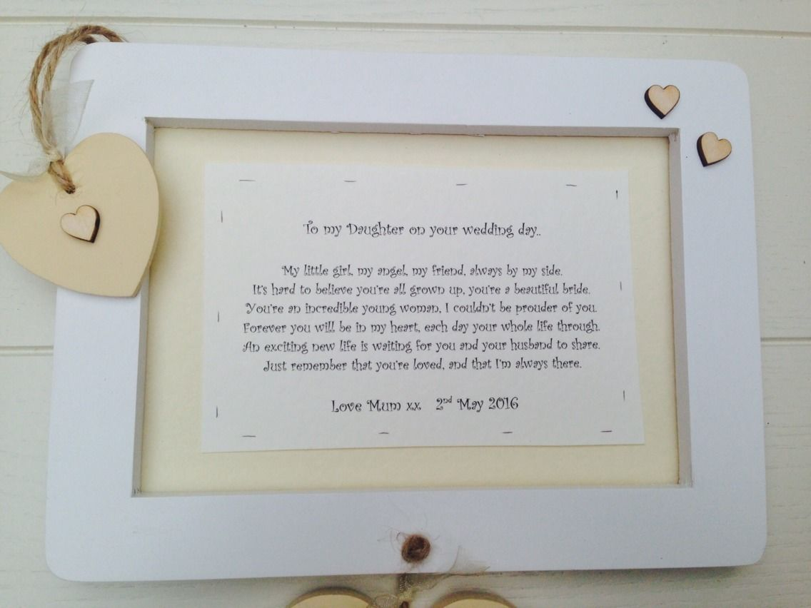 Ideas For Wedding Gift For Daughter : Ideas Gifts From Mother To Daughter On Wedding Day shabby personalised ...