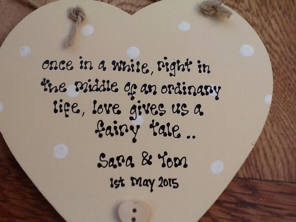 ... Personalised Wedding Present Gift Bride And Groom Hanging Heart Gift
