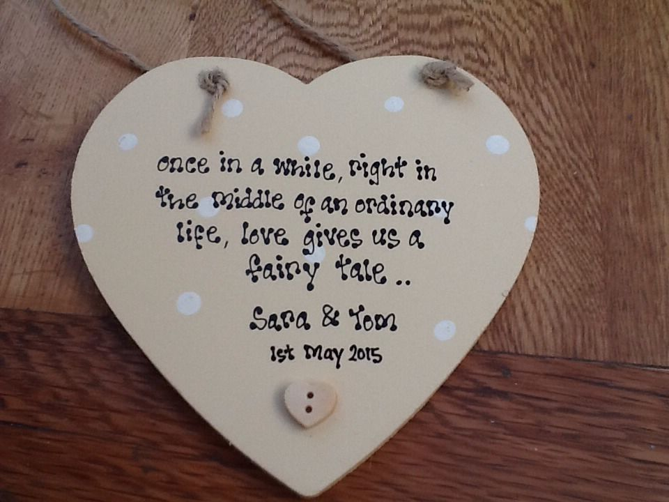 Wedding Gifts For Bride From Groom Uk : ... Personalised Wedding Present Gift Bride And Groom Hanging Heart Gift