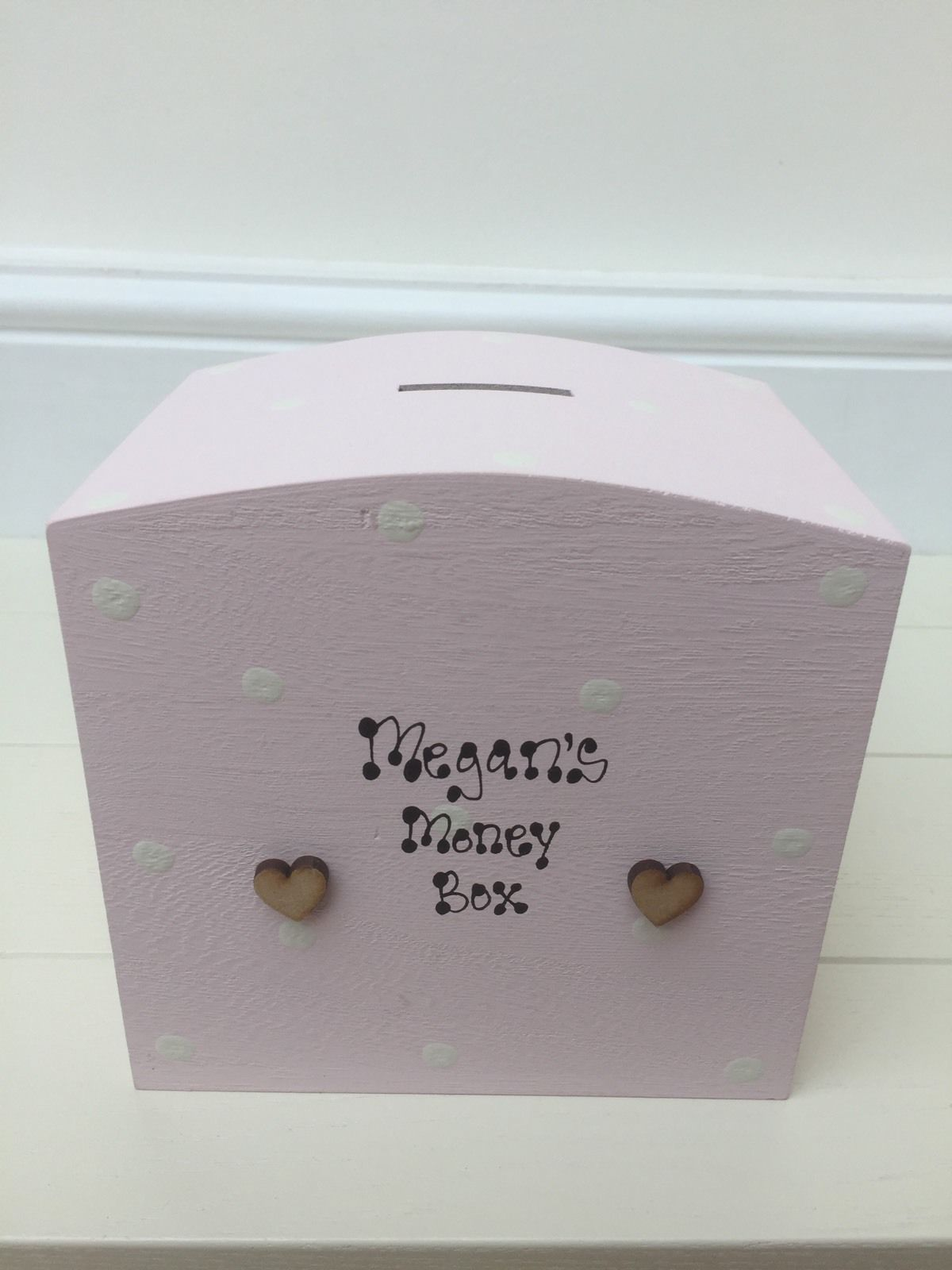 Shabby Money Box Chic Personalised Baby Girl 1st 2nd 3rd Birthday Gift Present