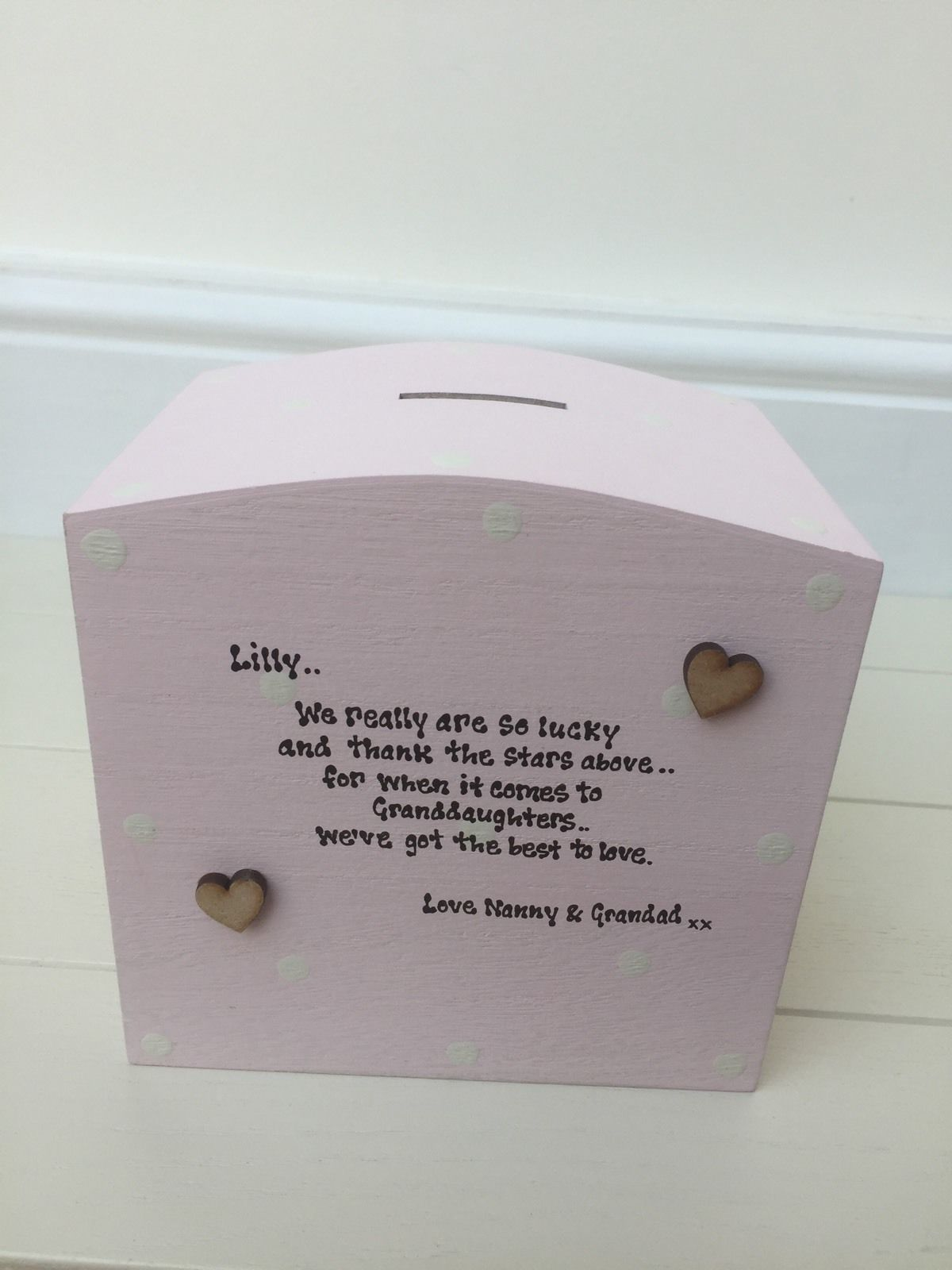 Shabby Personalised Chic Jewellery Box Gift For A Special