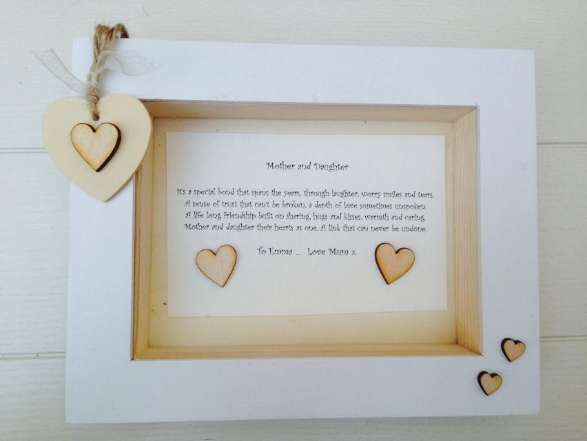 Shabby Personalised Chic Box Frame Daughter Mother Special Gift Mum ...